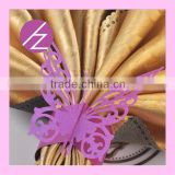 Wedding accessory customized laser cut metallic good paper napkin ring with various colors MJ-27