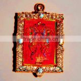2014 China Fashion Fancy Bright Gold Buddha Image with Red Butterfly