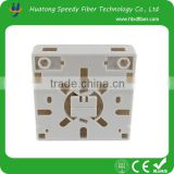 China FTTH Mini Wall Panel Fiber Optic PVC Distribution Junction Box 2port
