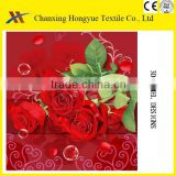3D Micro brushed disperse printed fabric from China printing factory/Panel 3D disperse print fabric for home and textile