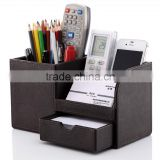 Leather foldable storage box High Quality Remote Control Storage Box