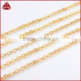 18 inch Simple gold chain necklace 18k gold plated necklace jewelry cable chain, clip on chain                                                                         Quality Choice