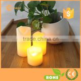 Luminara Candle Wholesale Paraffin Wax Melt Edge Round Pillar Flameless LED Magic Candle With Amber Flame