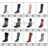 Lace-Up women's Mid-Calf boots new Square heel High boots Winter fashion platform boots shoes lady