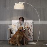 Classic floor lamp white or black floor standing lamp hemp rope weaving floor lamp modern
