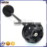BJ-FS-YA001 Top Quality CNC Aluminum Motor Bike Parts Motorcycle Front Axle Slider for Yamaha T-max 530