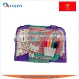 kids diy school bag with 4 colored markers                                                                         Quality Choice