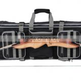 black hunting compound bow case and archery bow and arrow bag