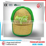 New Arrival High Quality Unique Design Embroidery Curve Custom Su generis 5-panel Baseball Kniting Straw Hats With Closure