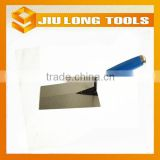 hand tools carbon steel bricklaying trowel with blue wooden handle