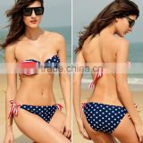 USA Flag PADDED TWISTED BANDEAU open hot sexi images for girls
