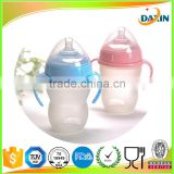food grade silicone material silicone nipple 40ml gourd shape baby infant feeding bottle