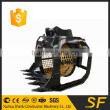 360 degree screen skeleton excavator rotating bucket for construction