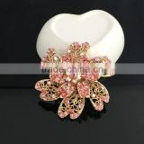 Zinc Alloy Color AB Rhinestone Flower Brooch Pin,Crystal Brooches For Decoration