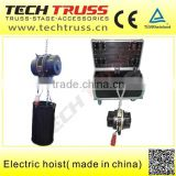 used 0.5-2 tons electric chain hoist with 220v