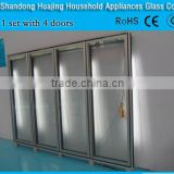 Fog/frost Resistant Electric Heated Glass Door with CE, 3C ROHS certificates