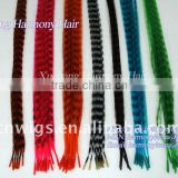 HOT grizzly saddle rooster feathers for hair extension