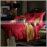 100%cotton red jacquard bedding sets,jacquard fabric with classic flower patterns,duvet cover,pillow covers ,Hotel duvet cover