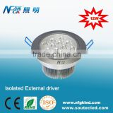 LED Ceiling 12W Light for commercial lighting usage LED Downlights