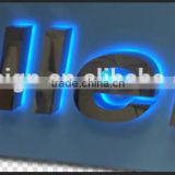 3D outdoor signage stainless steel led backlit letter sign