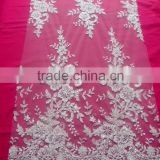 2015 new design Generous beaded sequined lace fabric for evening dress/wedding dress