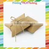 Lovely brown kraft pillow case gift box packaging