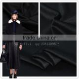 Pure black wool more high-end cashmere coat sale wholesale autumn winter wool fabric cloth