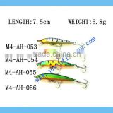 9+ years Wholesaler & OEM Manufacturer ,Hirun fishing tackle,vivid swim action crank bait hard plastic lures M4-AH-053-056