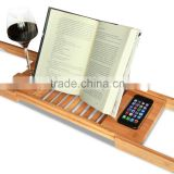 Bamboo Expandable and Adjustable book stand stand for phone book reading stand                                                                         Quality Choice