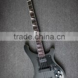 4 string neck through body electric bass guitar with black colour
