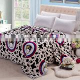 single double queen king size kids cute cow design blanket thick good quality blanket