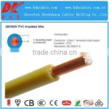 single core pvc cable 120mm2 450v 750v electric cable copper core pvc insulation blue bv cable 10mm2 single core cable