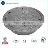 DI Round manhole cover with Chain and Ventilation