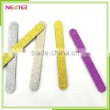 double side round glitter decrative promotional giftnail polish abrasive paper nail file