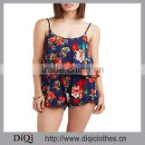 2017 Chic Wholesale Price Women Playsuit Adjustable Straps Floral Print Romper