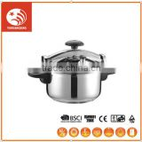 polished stainless steel cookware sandwich bottom pressure cooker rice cooker super capsule bottom cookware