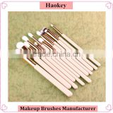 12pcs Rose Gold Silicone makeup cleaner kabuki bristle face cleaning brush cosmetic set                                                                         Quality Choice