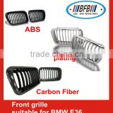 auto car truck front grille/carbon/abs chrome grille for bmw 3 series e36