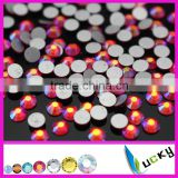 Wholesale new color nail crystals lt siam ab non hotfix flat foiled back rhinestones                                                                         Quality Choice