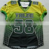 2016 style 100 % Polyester Tackle Twill with sublimation American Football Jereseys with High quality Material