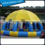 inflatable tent with pool,inflatable dome tent with pool,inflatable cover tent with swimming pool