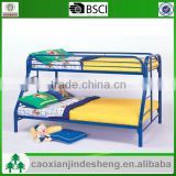 made in china kids metal twin over full bunk bed - Blue Finish TF- 16
