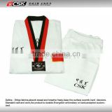 Quality white taekwondo uniform