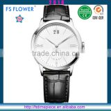 FS FLOWER - Custom Own Brand Watches Genuine Leather Watch Strap China Watch Manufacturer