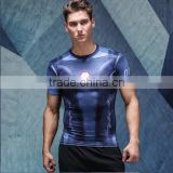 Subilmated Short Sleeve Compression Skin Tight Base layer