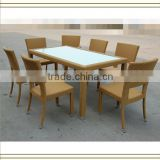 stackable plastic rattan outdoor dining furniture rattan (T526)