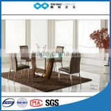 TB industrial kitchen table wooden metal glass dubai dining table