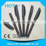 Hot Sale Plastic Black rubber barrel uni ball gel pen, gel ink pen 13.5cm