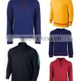 Top quality customs logo soccer hoodies yellow blue football training suit blank sports sweater 2016-2017