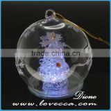 Best Quality Xmas Hanging Glass Festival Balls for Christmas Decoration with led xmas light